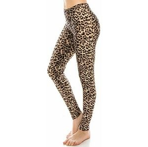 Pants - Leopard Print Yoga Leggings